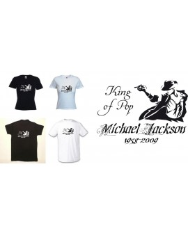 TEE SHIRT MICHAEL JACKSON KING OF POP