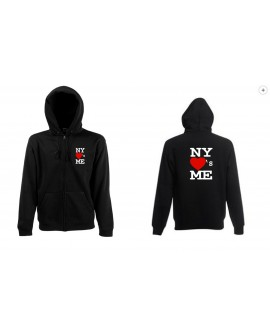 SWEAT SHIRT CAPUCHE ZIP NY NEW YORK LOVE S ME