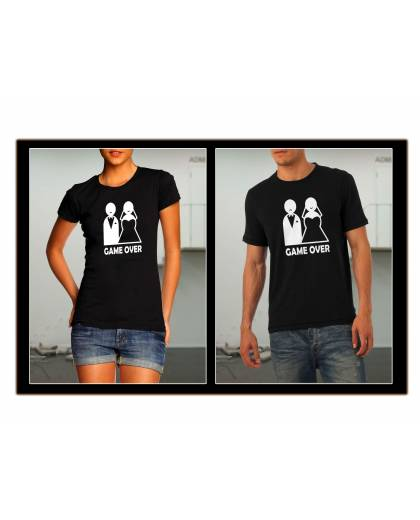 TEE SHIRT MARIAGE GAME OVER 1