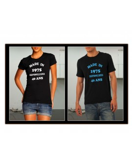 TEE SHIRT MADE IN 19** EXCEPTIONNEL ANNIVERSAIRE